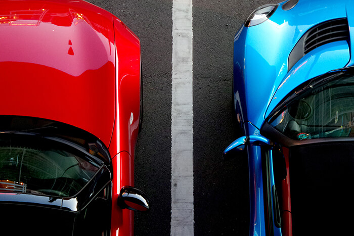 cars side by side